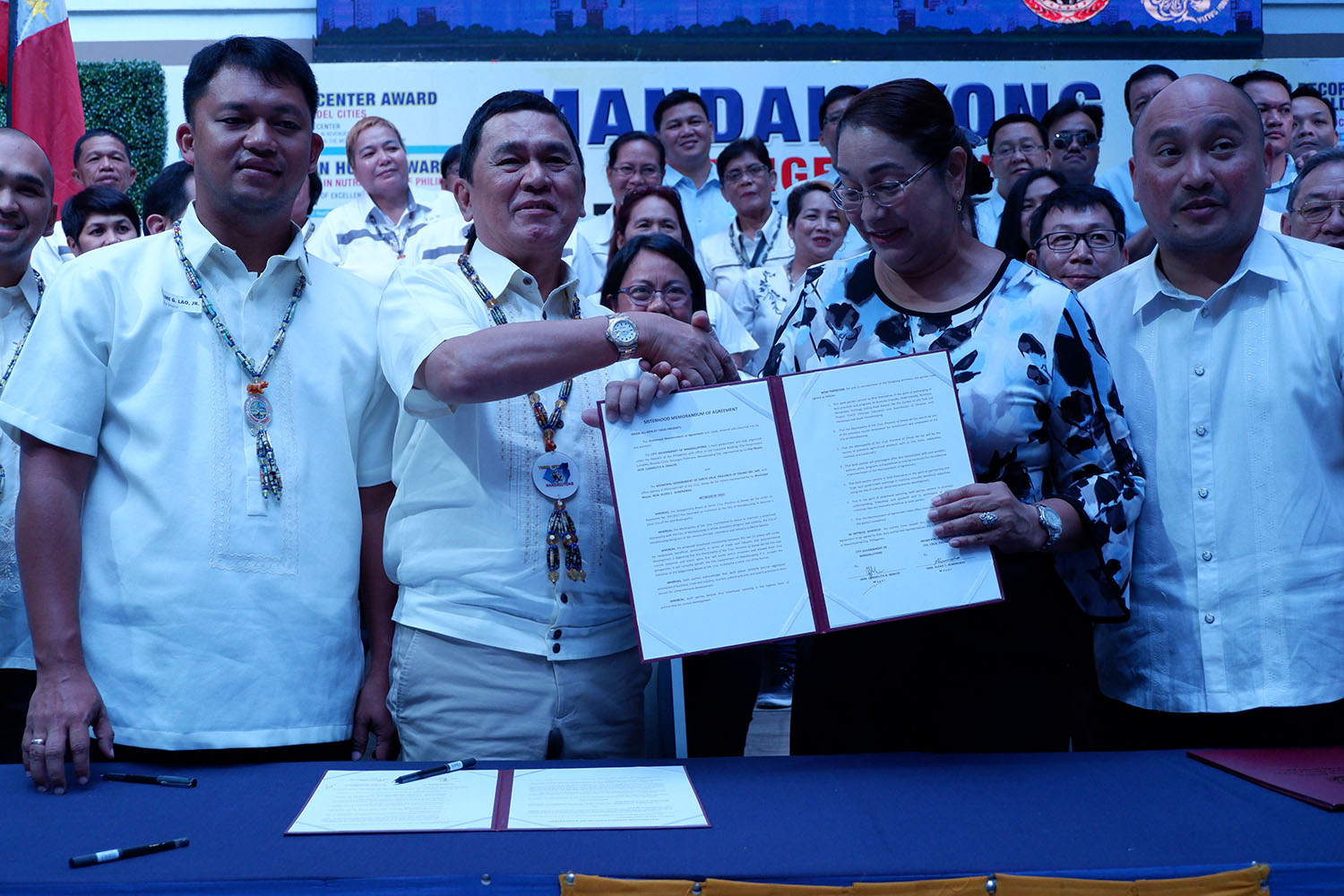 Municipality of Sta. Cruz and Mandaluyong City inks Sisterhood Pact